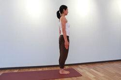 <span>12.</span>息を吐きながら、静かに直立の姿勢に戻して腕を下ろす。